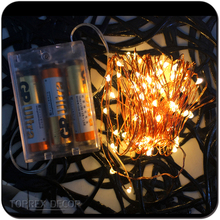 Battery Operated Mini LED Copper Wire String Fairy Lights