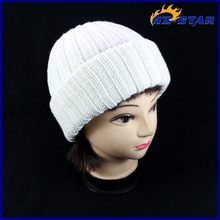 HZM-12093010 Crazy Selling heavy knit acrylic beanie newest lady hats