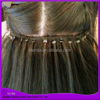 Peruvian remy hair micro braid easy loop ring hair extention