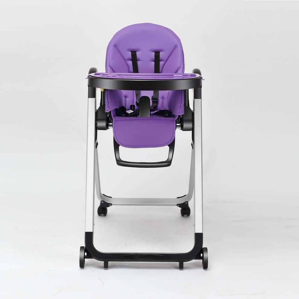 European satndard comfortable reclining purple color toddler travel high chair Baby Dining Chair with EN14988 certificate