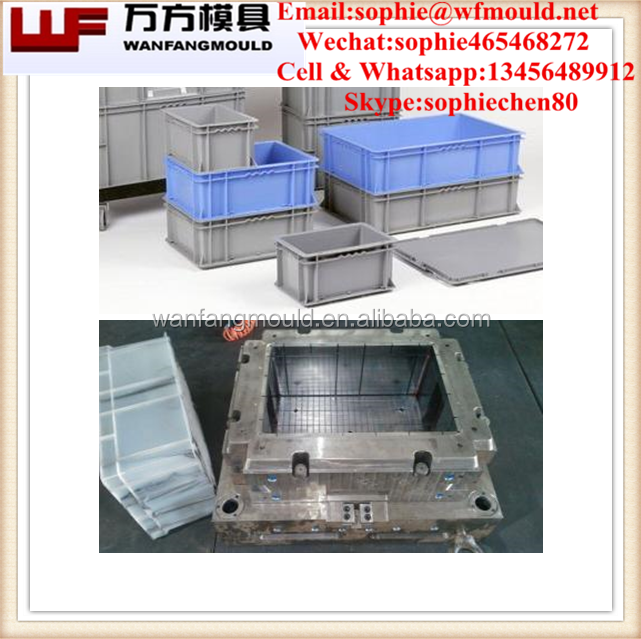2014 Taizhou plastic Injection Vegetable/Fruit crate mould /plastic injection turnover box mold made in China