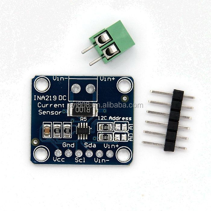 INA219 I2C interface zero drift bidirectional current / power monitoring sensor module