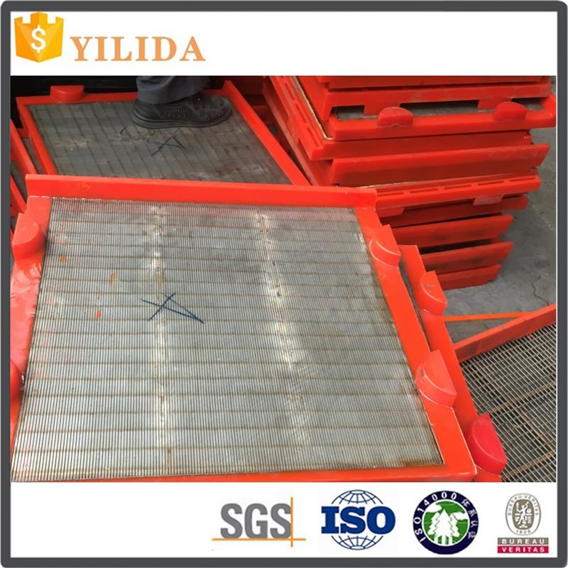 Mineral processing wedge wire welded cross flow sieves mesh
