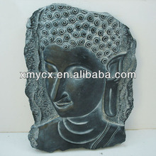 Hand made resin carving wall art decoration buddha face