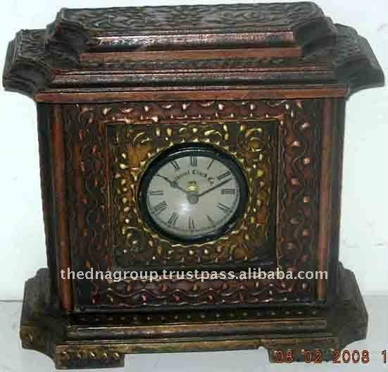 Madera decorativos antiguos relojes de escritorio y - Relojes decorativos de mesa ...