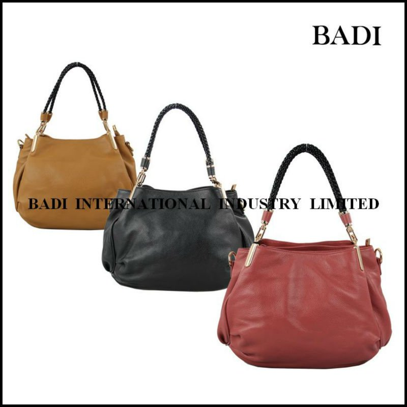 guangzhou braided handle trend women leather handbags south america