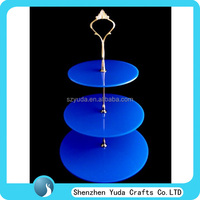 colored custom acrylic round cupcake stand, perspex high tea cupcake display stand