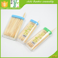 Portable bamboo toothpick in a lighter tube pocket toothpick for home