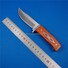 Most Popular Fixed Blade Color wooden Handle army jack knife