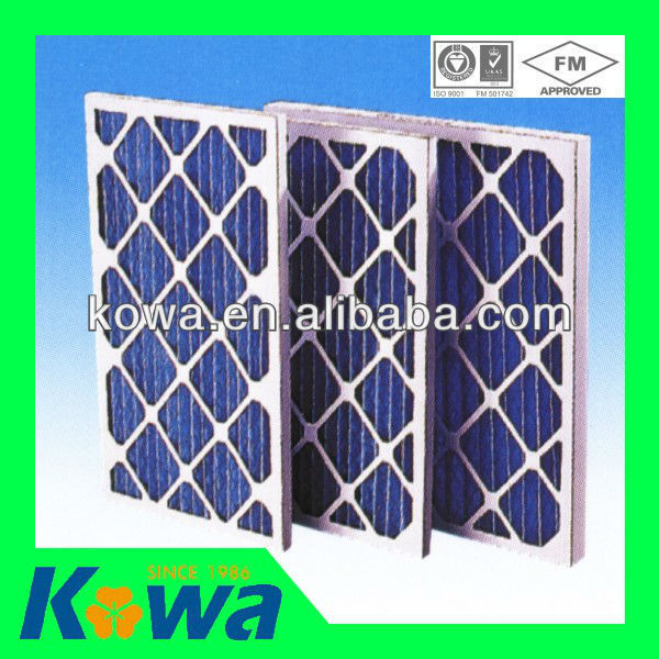 Quality air filter paper pleated for cleanroom g4 Paper Frame pre filter