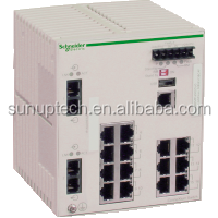 Connecting Ethernet devices TCSESM163F2CS0 Ethernet TCP/IP managed switch - ConneXium - 14TX/2FX - single mode
