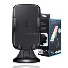 Wireless Charging Car Mount Fast Qi Wireless car Charger Wireless car holder For Iphone X Samsung s7 s8 note8 with package