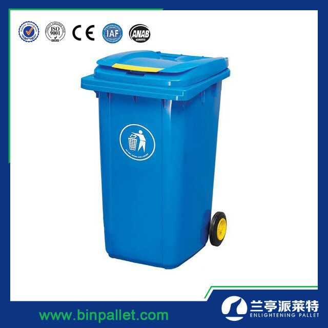 240L HDPE dustbin plastic color coded plastic sanitary waste bin
