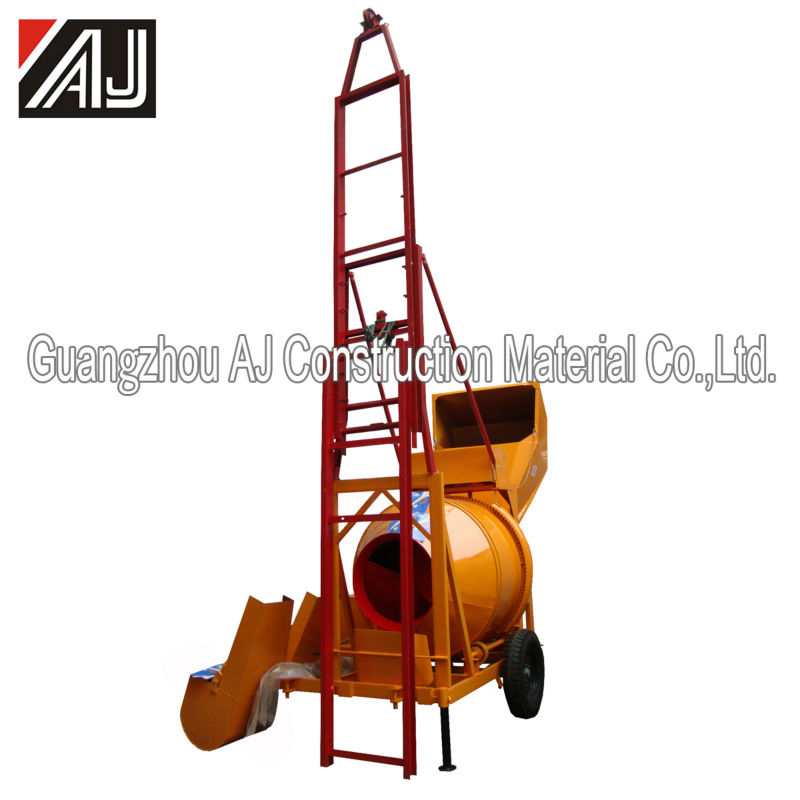 Best Selling!!! Self-loading Concrete Mixer with Hoist(JZC350 DHL), Factory in Guangzhou