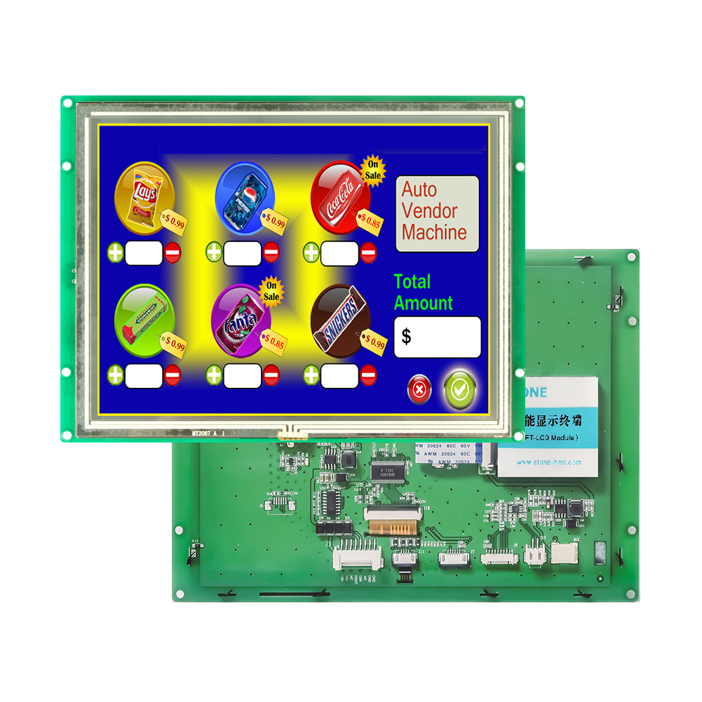 8 inch TFT LCD screen with LED backlight and several interfaces