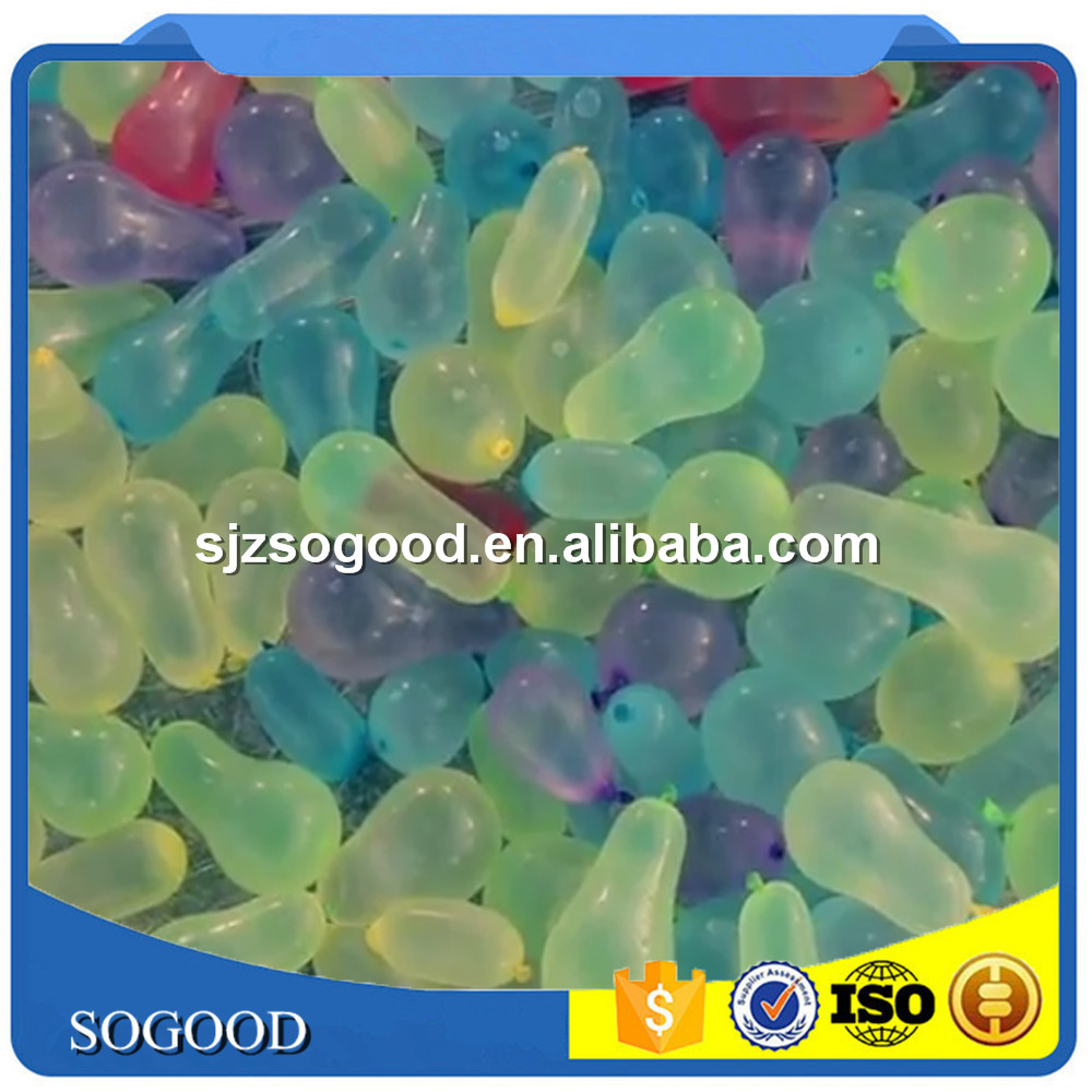 High quality top popular self sealing Magic ballons 37 water balloons bunch, water balloons refill pack made in china