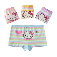 Hot selling underwear little girls modeling panties comfortable kids 100% cotton boxer briefs