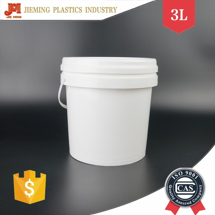 Bucket Plastic with Handle, 3 Liter Paint Bucket, Custom Print Small Pail with lid