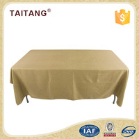 100% polyester banquet rectangle light color table cloth