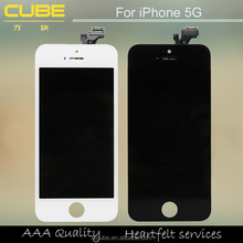 New Completed White for Iphone 5 LCD Display Touch Screen Digitizer Frane Assembly with Button, Cameral, Flex Cable