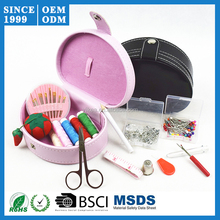 Factory Price Professional Hotel Sewing Kit with Black or Pink PU leather Case