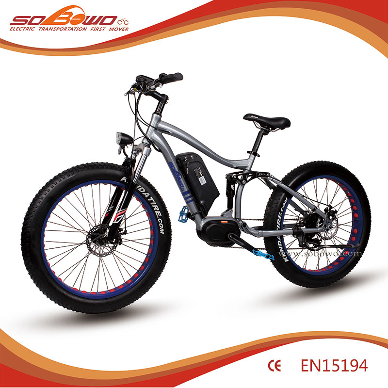 S29-2 full suspension mid drive motor adult fat tire electric bike