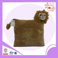 brown novelty design lion plush cushion