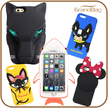 Factory price custom shockproof 3d silicone anime mobile phone case for iPhone 6