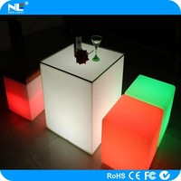 new product rechargeable waterproof color changing led cube/led table for bars/gardens/pool/home decoration