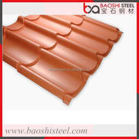 Long lasting prepainted corrugated metal roof tile in competitive price