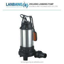Submersible Stainless Floating Water Pump 1.5 Hp Water Submersible Sewage Pump