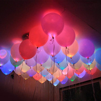 Hot sale LED light balloon luminous wedding birthday party supplies ballon latex balloons flash party balloon