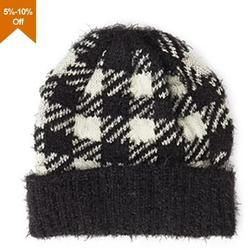 New design ski knitted hat with flat embroidery