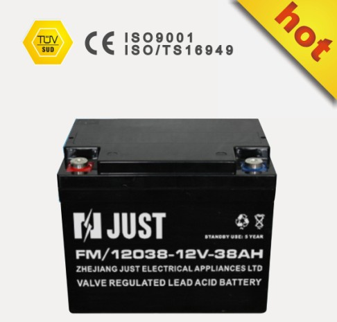 solar battery 12V 38ah power storage solar battery