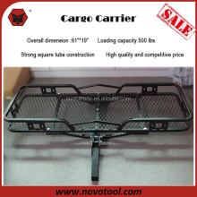 "Basket Style Durable Quick Assembly 61"" x 19"" Hitch Mount Cargo Carrier with 500LBS Loading"