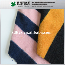 Stripe pattern yarn dyed cartoon candy color brushed woolen fabric