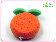 Wholesale Orange shape Bath Sponge Cleansing Exfoliating Wash Face Body Cleaning Sponge