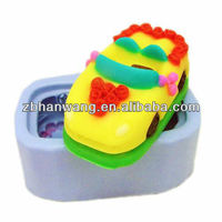 Silicone rubber lovely 3D car soap mould toy soap moulds H0123