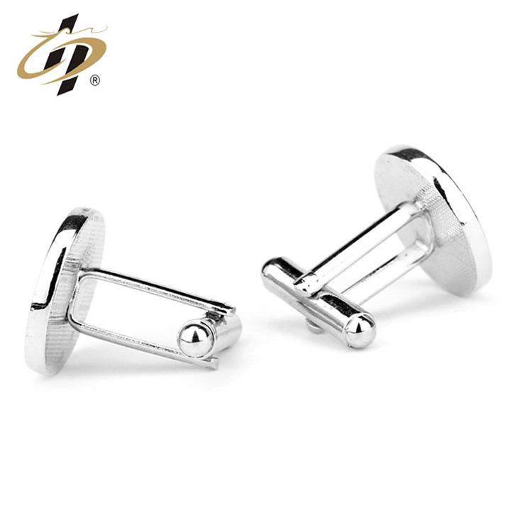 Custom made metal Brand logo men cufflinks with boxes