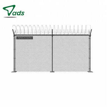 Diamond-shaped steel wire mesh alarm system used chain link fence for sale