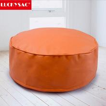 Orange Beanbag cube ready unfilled bean bag Faux Leather beanbag cube footstool pouffe cover