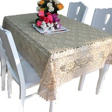 Coffee jacquard tablecloth fabric sizes wholesale factory