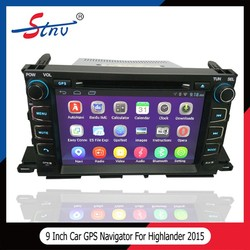 Car Audio Video Entertainment Navigation System For Highlander 2015 Toyota With GPS Navigation