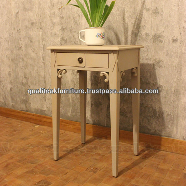 Antique White Bedside Tables With Swedish Furniture Design - Signe