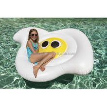Pop fried egg giant inflatable pool beach float mattress for pool