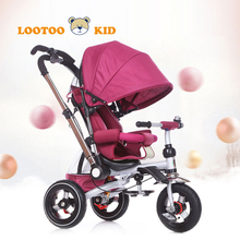 Buy cheap toddler trike with handle / good quality suspension tricycle bike / simple design children tricycle rubber wheels