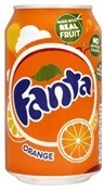 Fanta Orange Cans (UK) 330