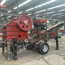 Mobile stone mini jaw crusher plant price