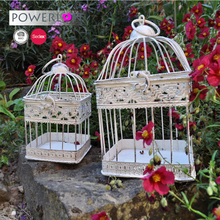 Wholesale Vintage Decoration Wedding Canary Square Bird Cage