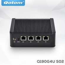 Qotom 4 lan dual display j1900 Linux latest micro pc cheap server low cost mini computer